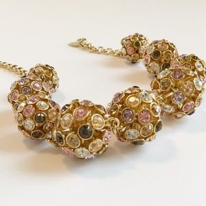 Kate Spade Multi Crystal Ball Collar Necklace.